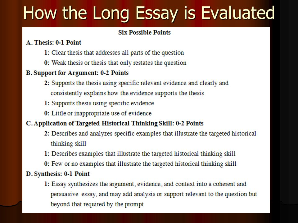 how to write an apush thesis statement  how to tackle the long   how