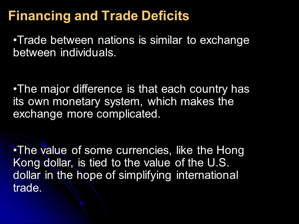 Financing and Trade Deficits