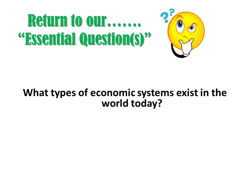 Return to our……. Essential Question(s)