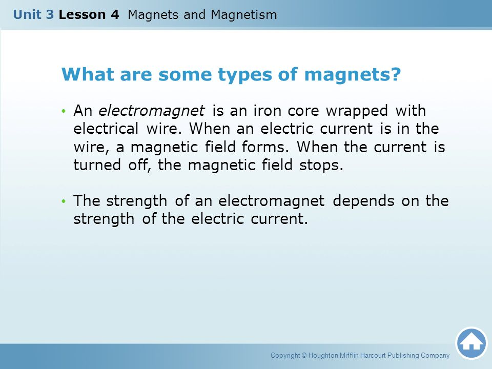What are some types of magnets