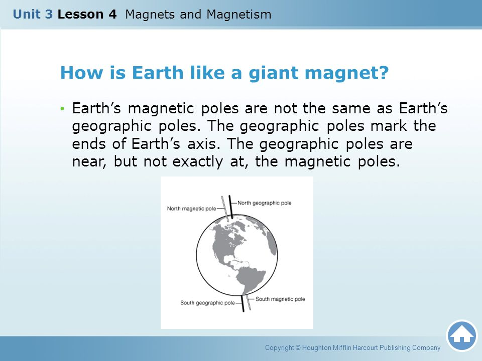 How is Earth like a giant magnet