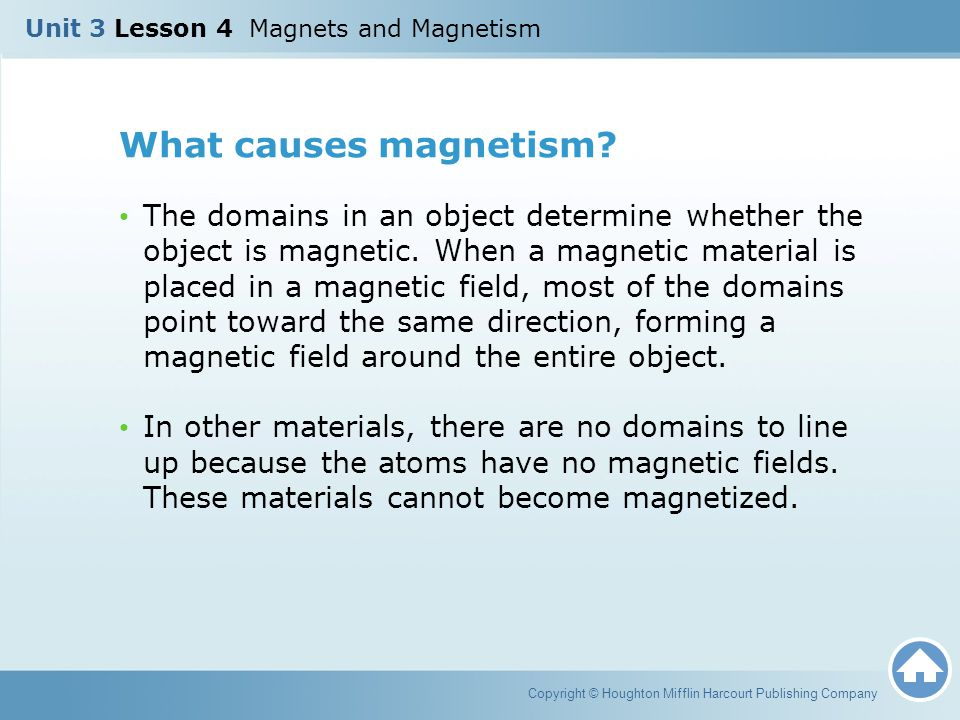 Unit 3 Lesson 4 Magnets and Magnetism