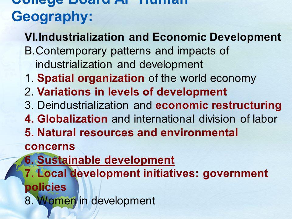 Ap Human Geography Ann Linsley Bellaire High School Houston Isd