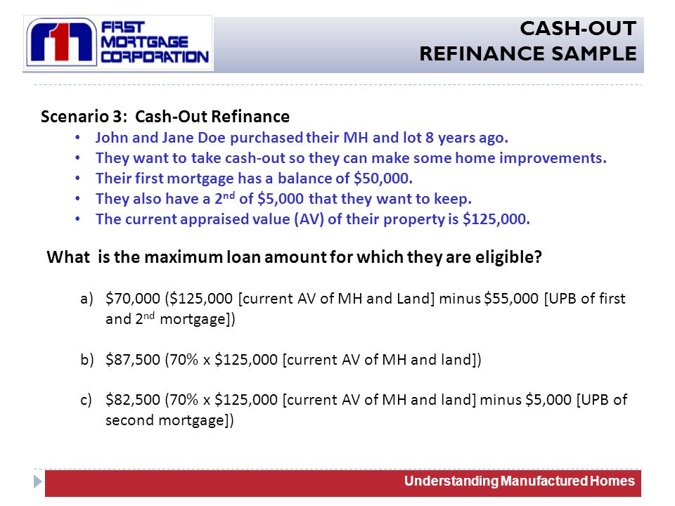 Conventional Cash Out Refinance Guidelines