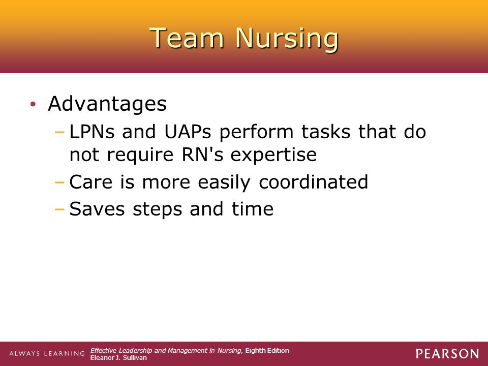 Team Nursing Advantages