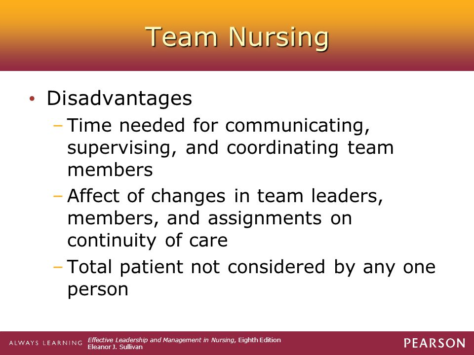 Team Nursing Disadvantages