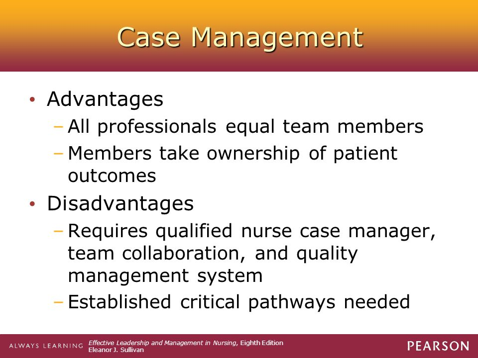Case Management Advantages Disadvantages