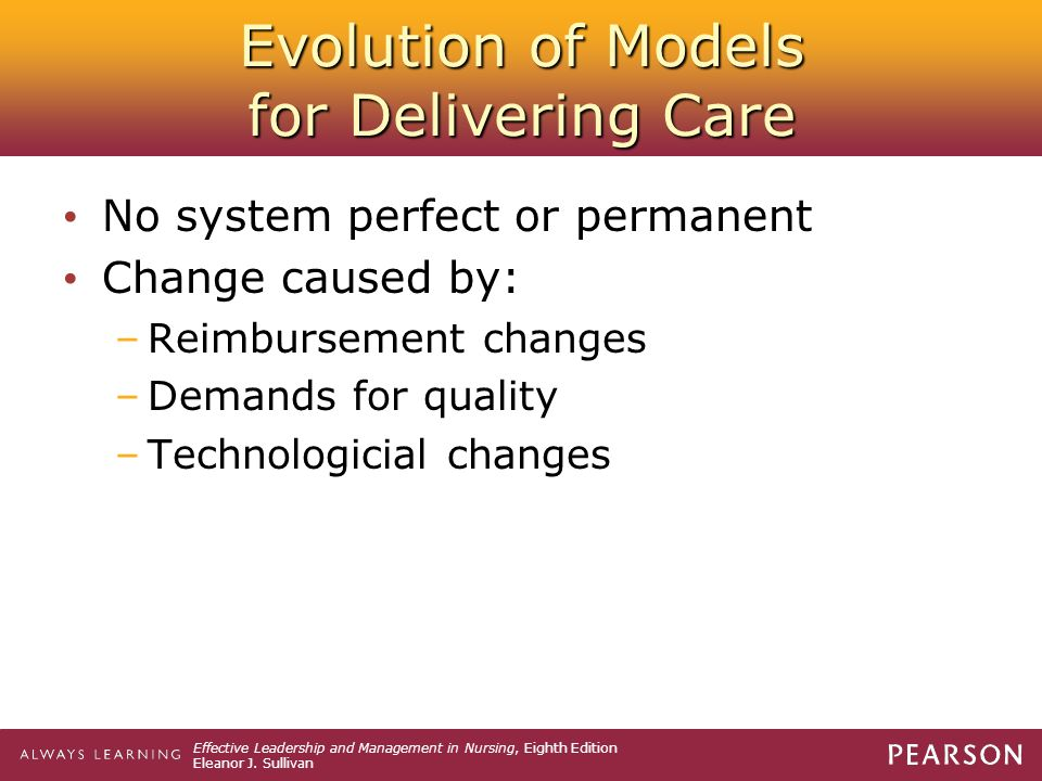 Evolution of Models for Delivering Care