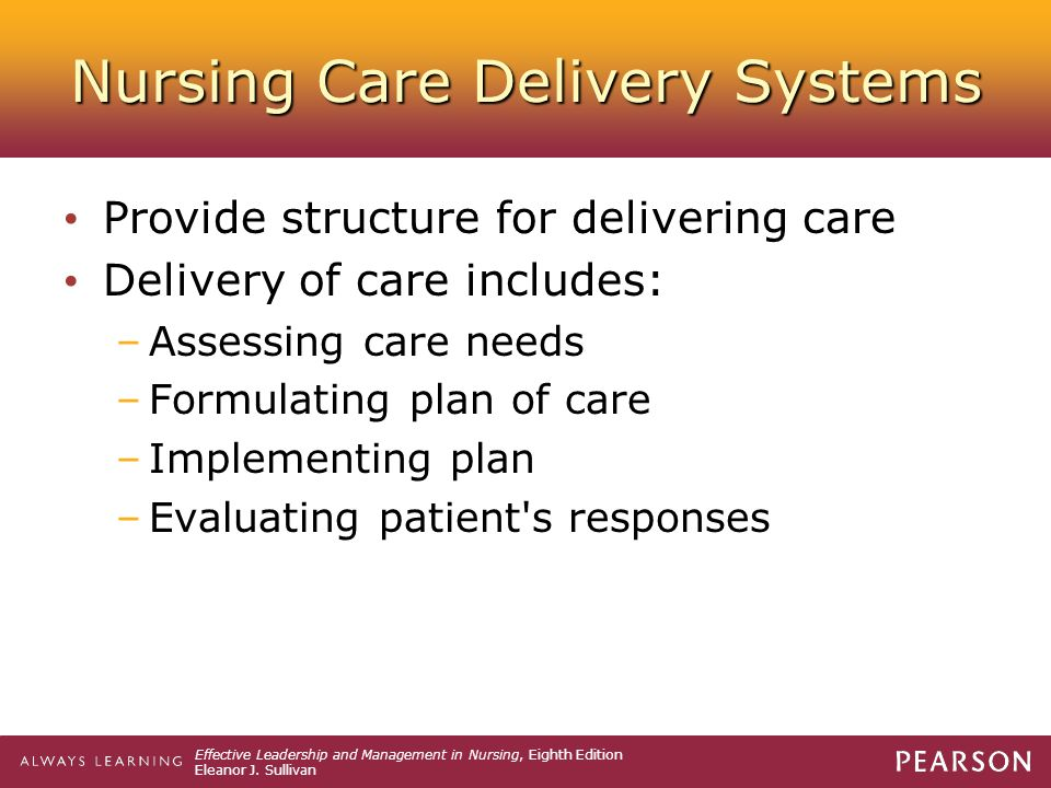 Nursing Care Delivery Systems