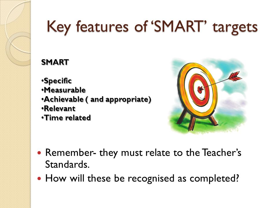 Key features of 'SMART' targets