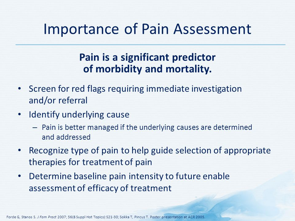 Importance of Pain Assessment