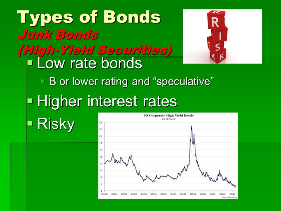 Types of Bonds Junk Bonds (High-Yield Securities)