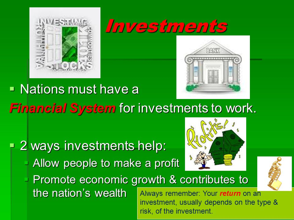 Investments Nations must have a