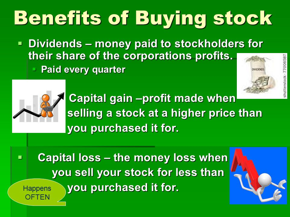 Benefits of Buying stock