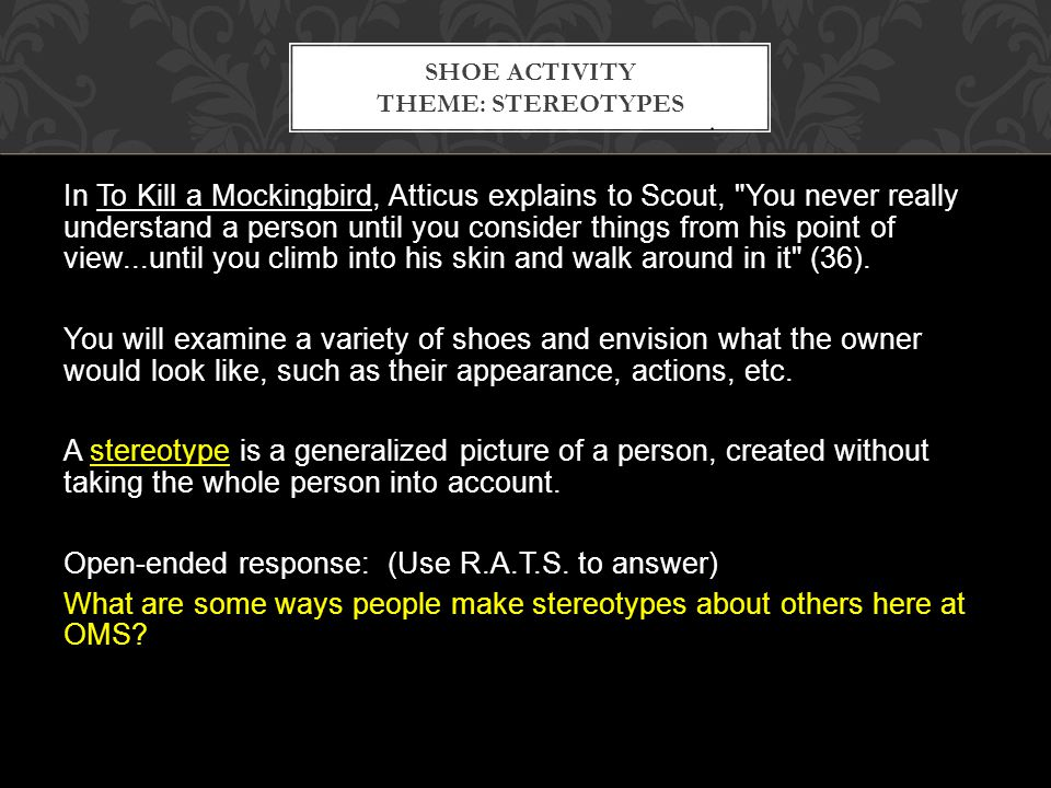 you never really understand a person to kill a mockingbird