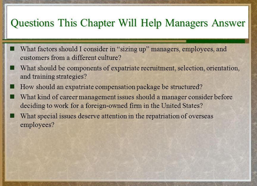 International Dimensions of Human Resource Management - ppt video