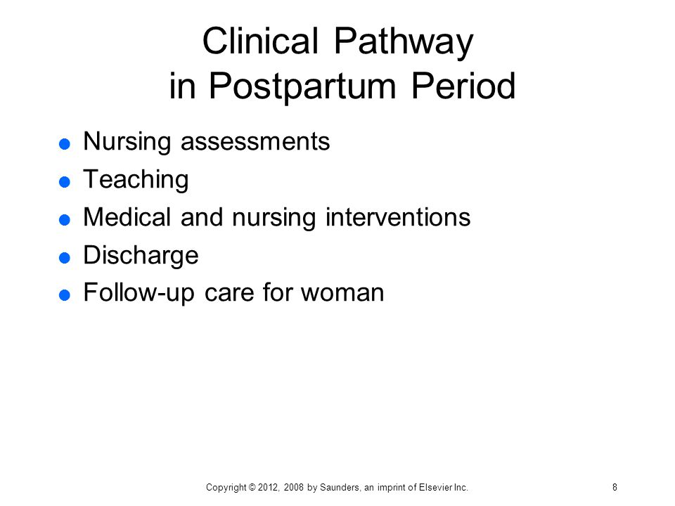 clinical pathway in postpartum period