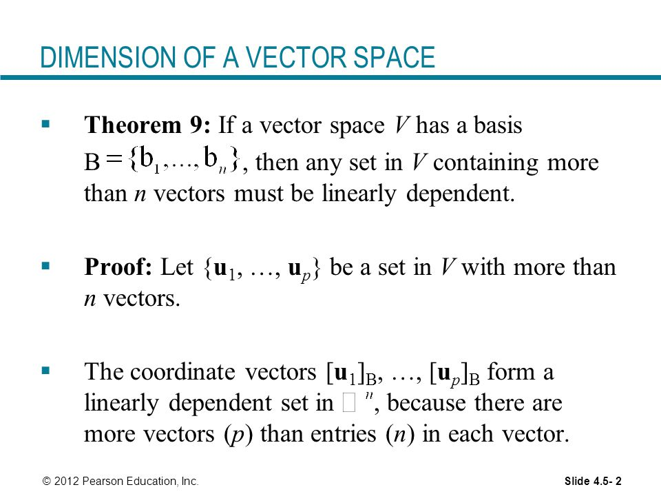 DIMENSION OF A VECTOR SPACE