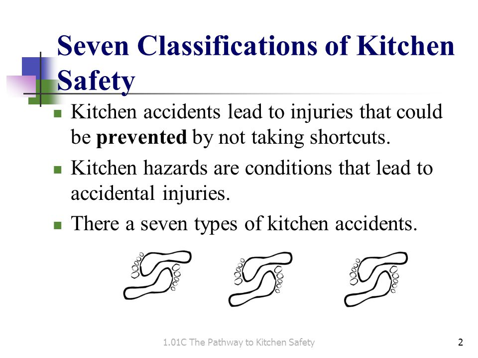 Seven Classifications of Kitchen Safety