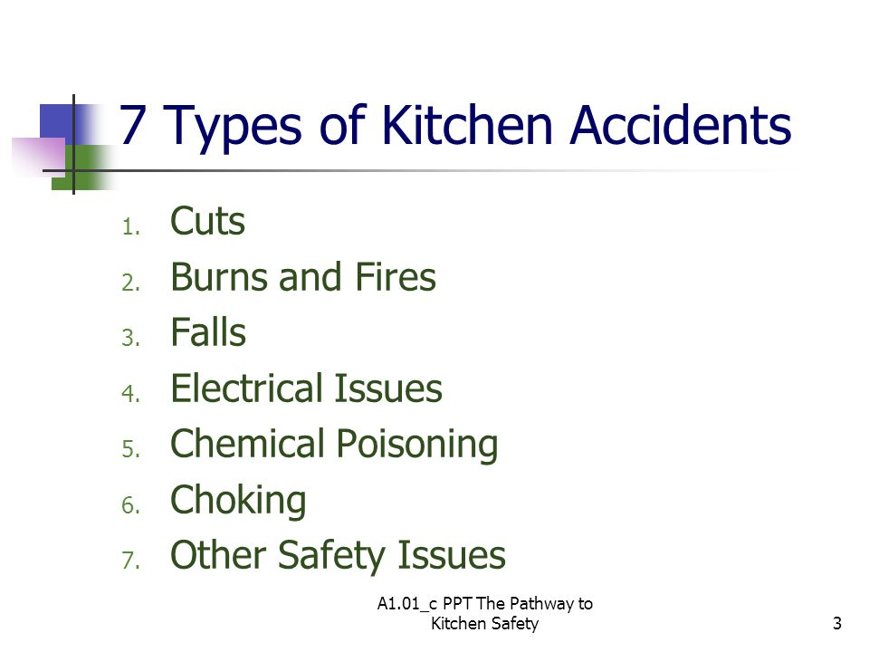 7 Types of Kitchen Accidents