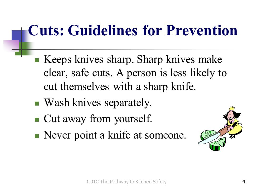 Cuts: Guidelines for Prevention