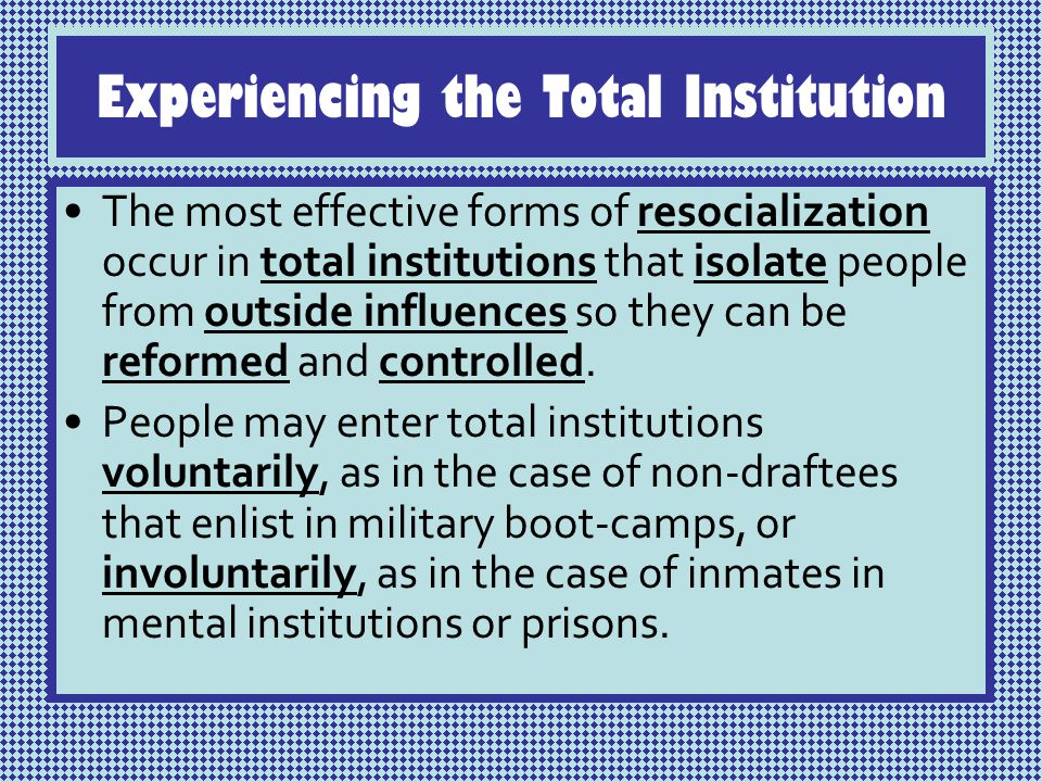what is a total institution in sociology