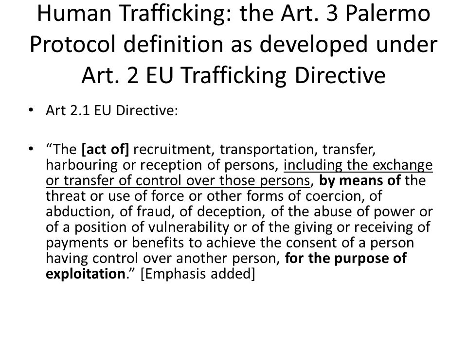 Human Trafficking: the Art