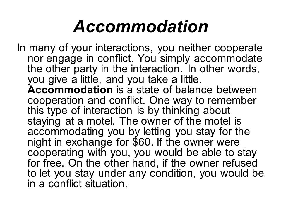 Accommodating personality definition sociology