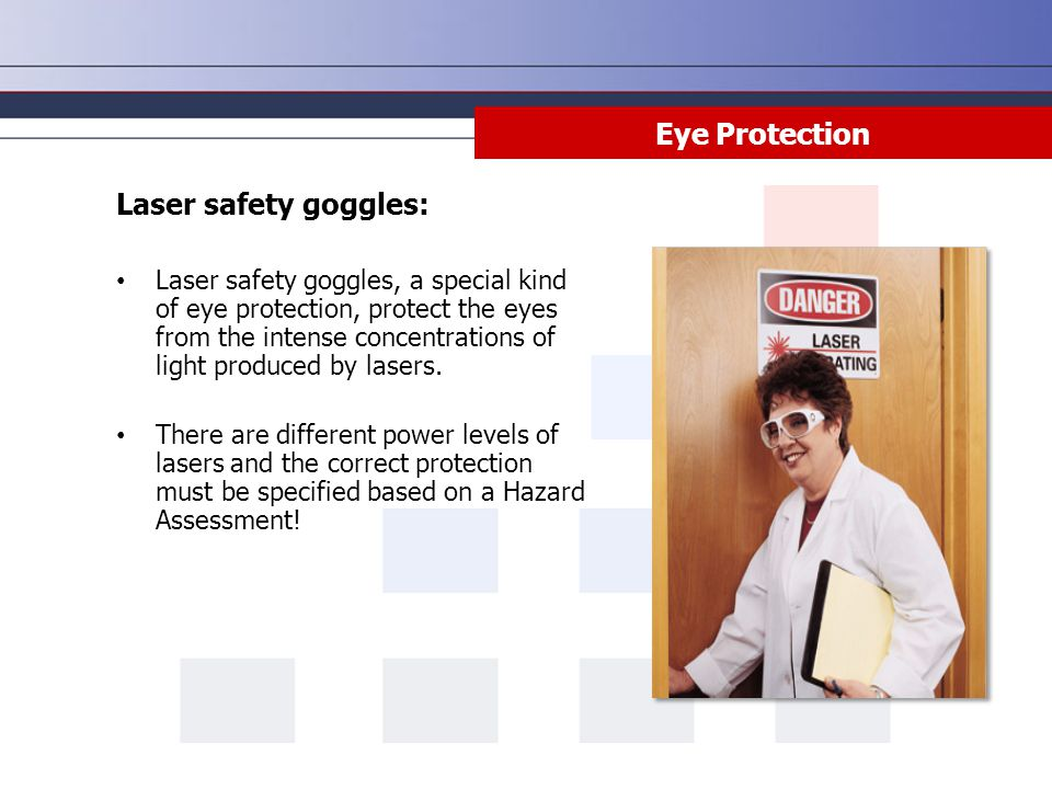 Eye Protection Laser safety goggles: