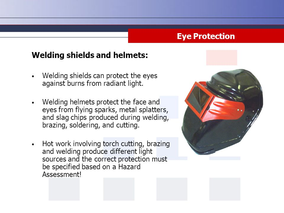 Welding shields and helmets: