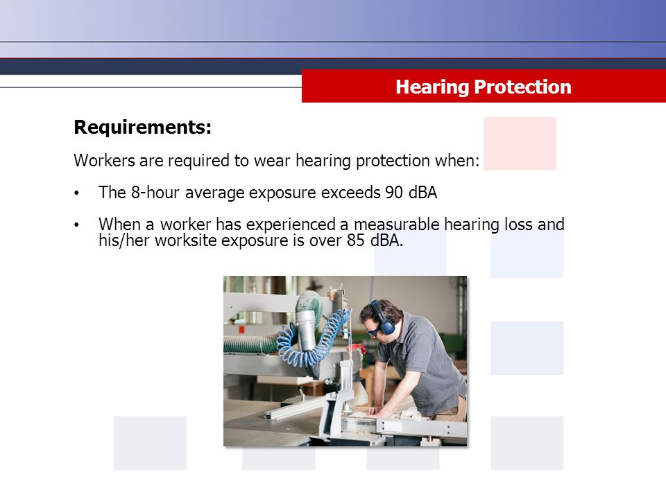 Hearing Protection Requirements: