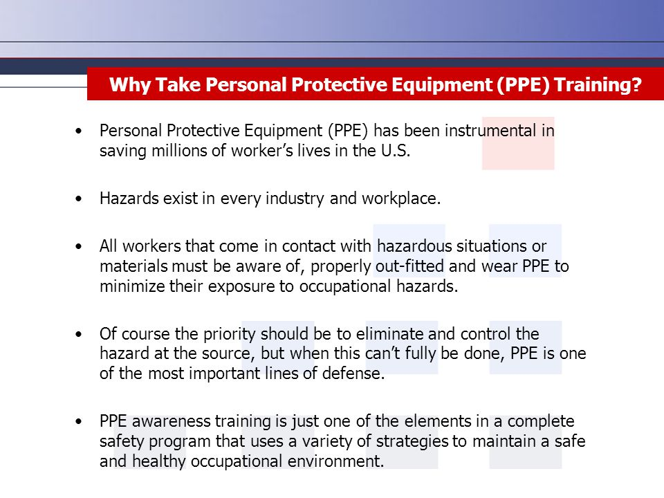 Why Take Personal Protective Equipment (PPE) Training