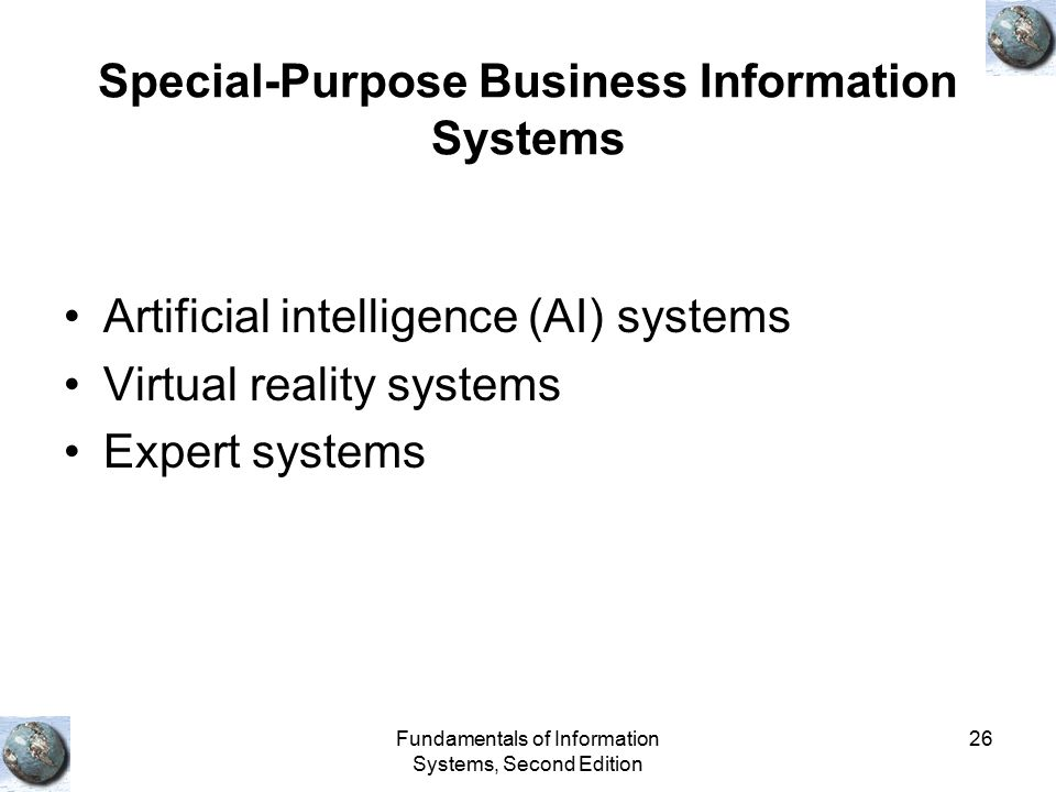 Special-Purpose Business Information Systems