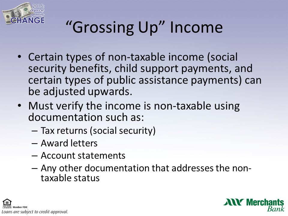 "Image result for ""Grossing-Up"" Non-Taxable Income"