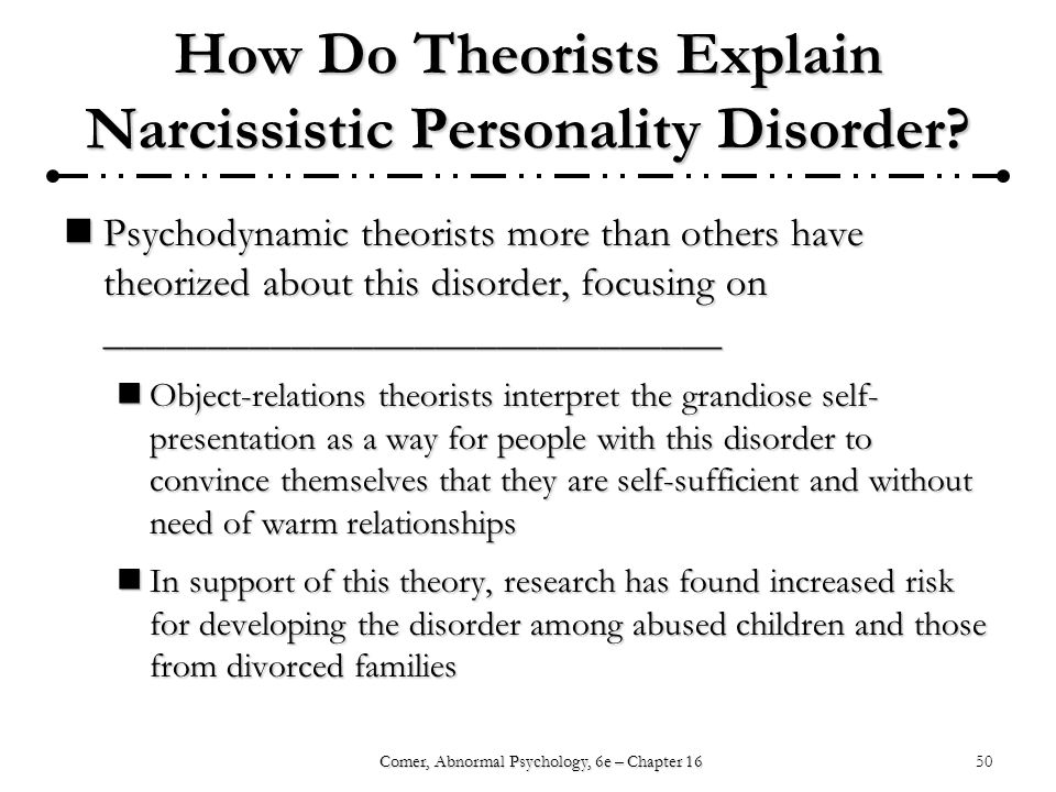 Case Study About Narcissistic Personality Disorder - Main