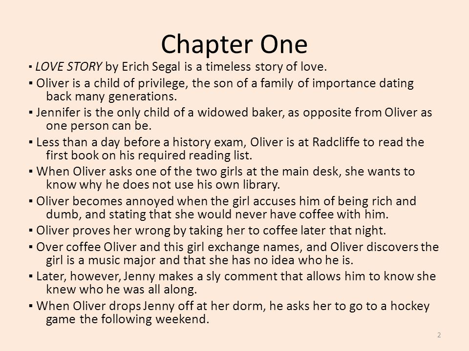 Love Story By Erich Segal Chapter Summaries Activities Ppt Video