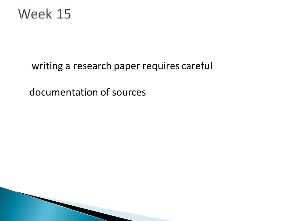writing a research paper requires careful documentation of sources dgp