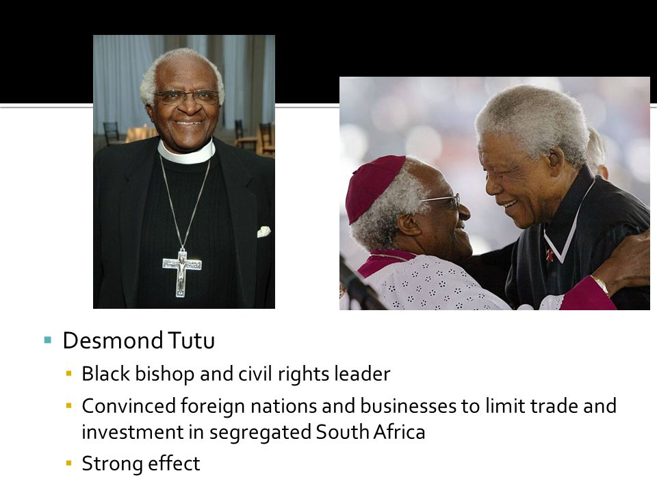 Desmond Tutu Black bishop and civil rights leader