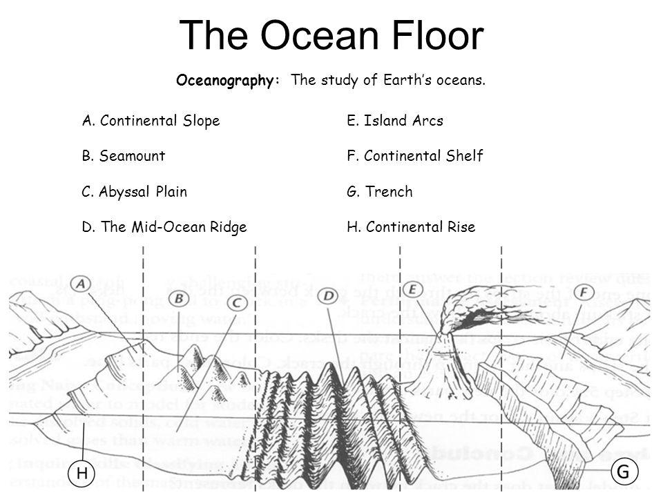 the ocean floor diagram answers