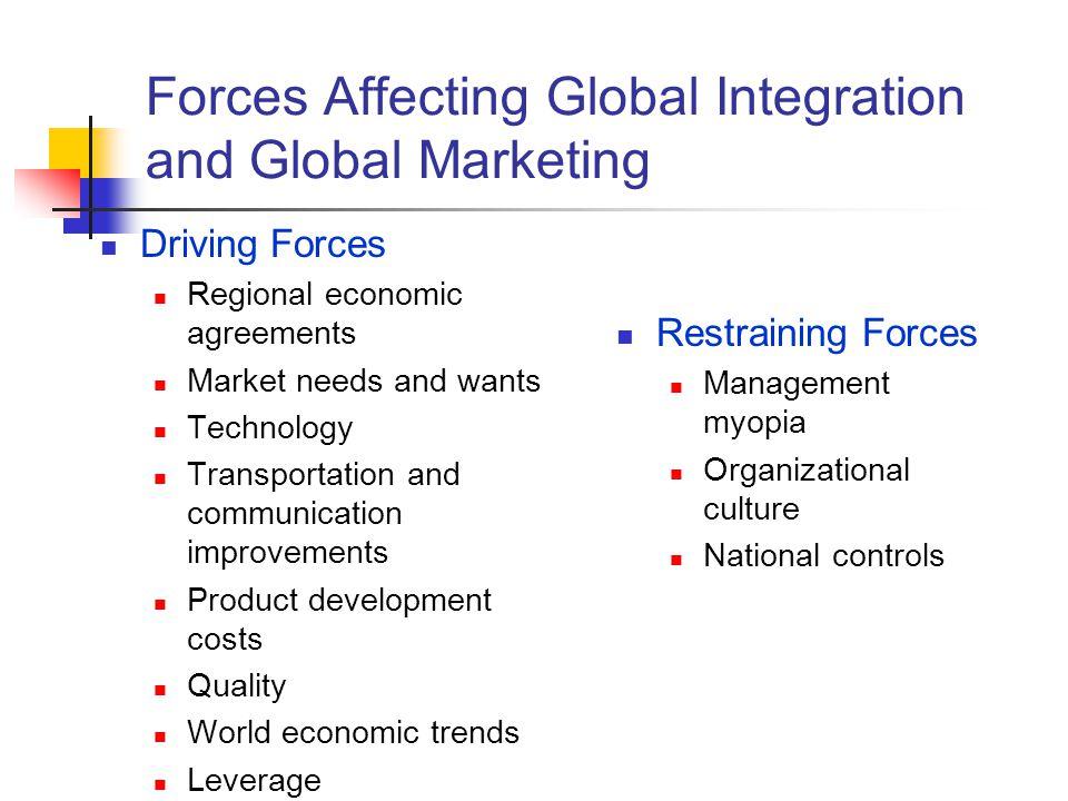 forces for global integration