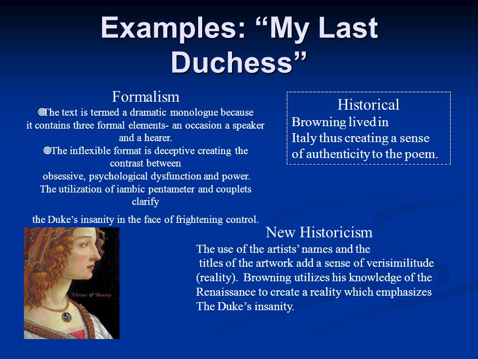 examples of formalism in literature