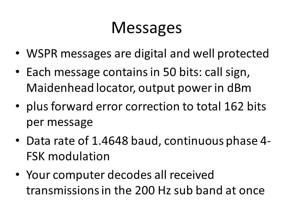 WSPR (pronounced whisper) Weak Signal Propagation Reporter