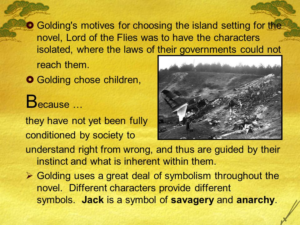 lord of the flies island symbolism