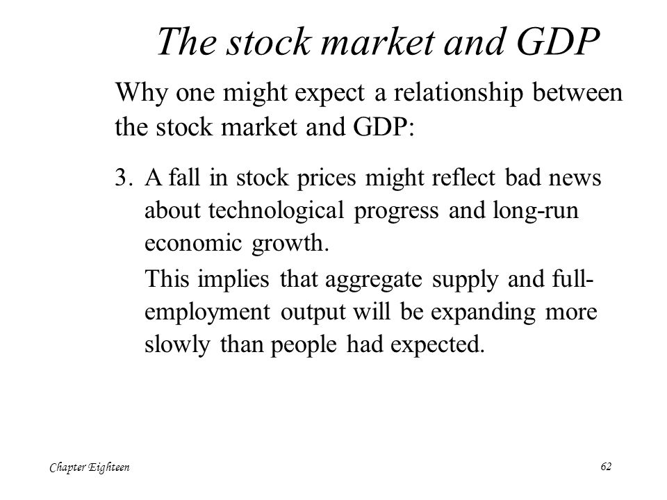relationship between stock market and gdp growth