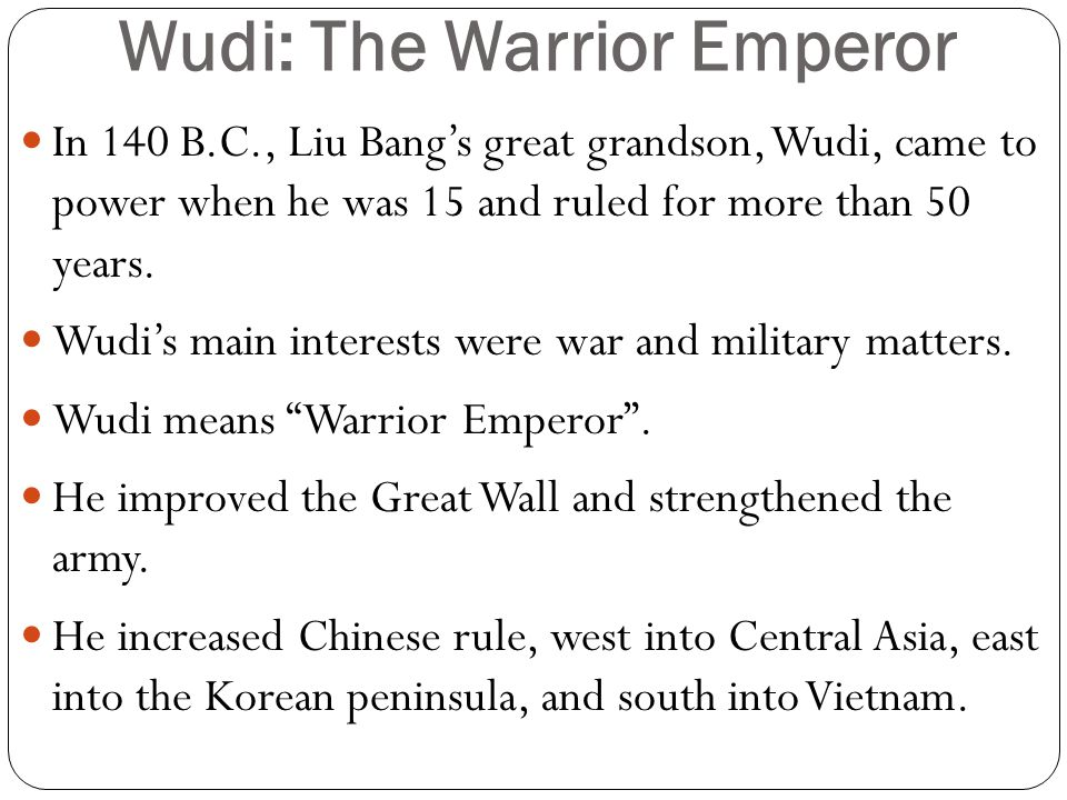 Wudi: The Warrior Emperor