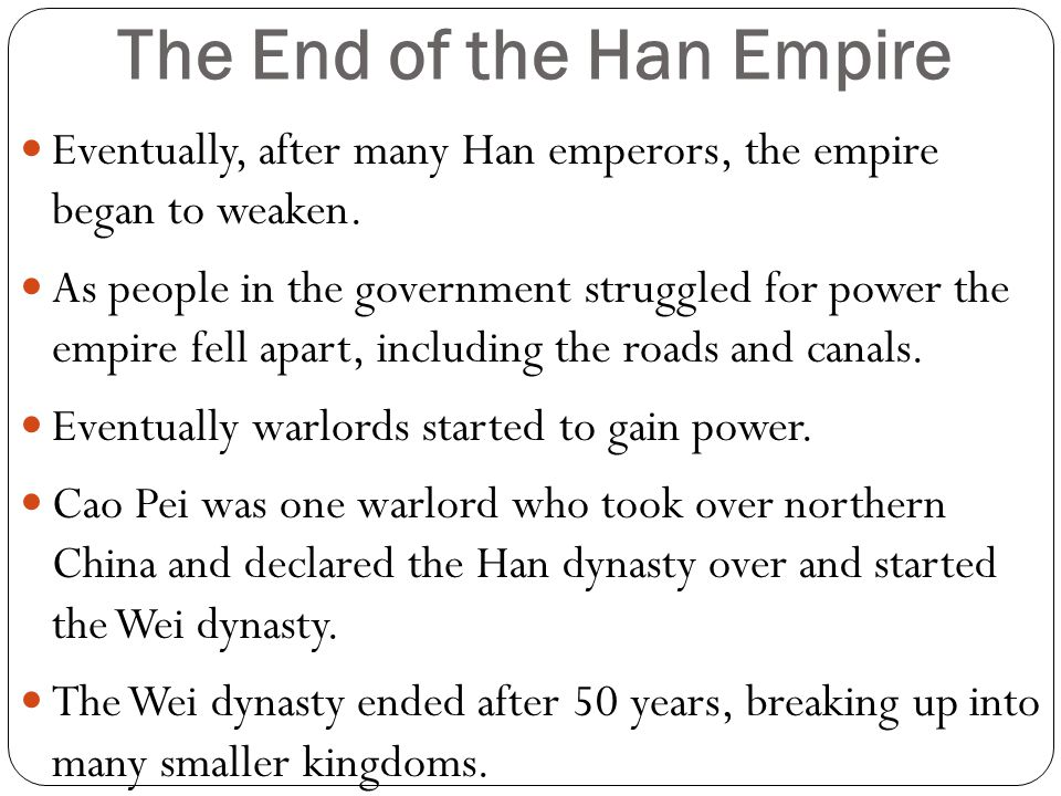 The End of the Han Empire