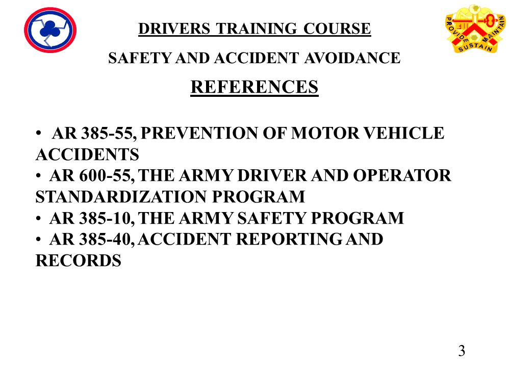 AR , PREVENTION OF MOTOR VEHICLE ACCIDENTS