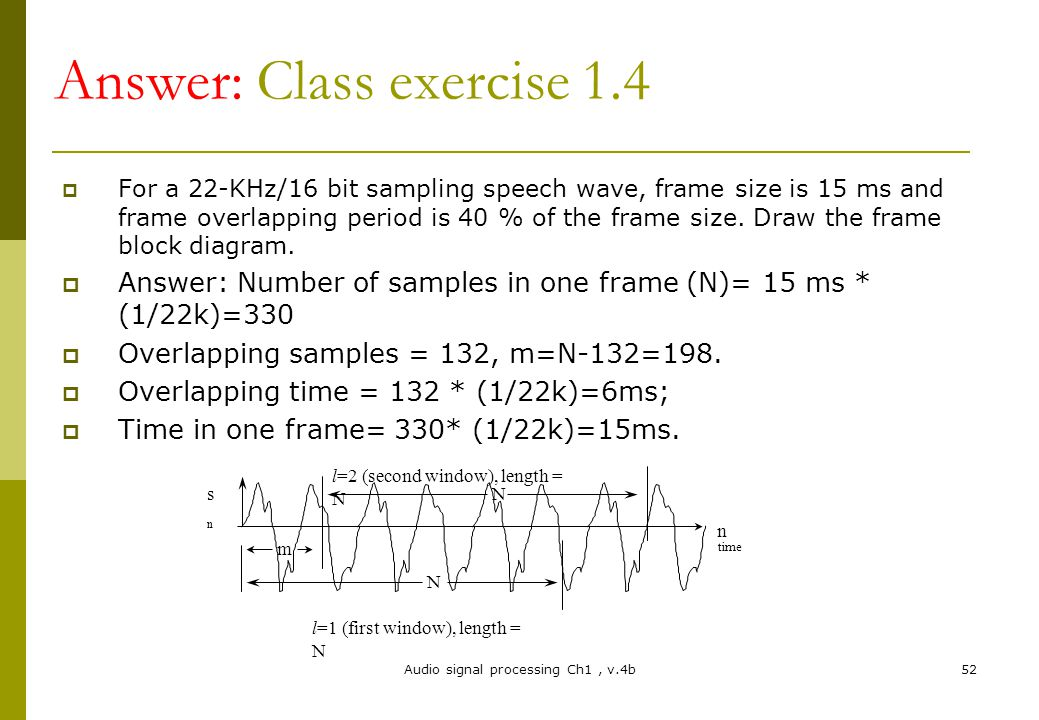 Chapter 1 Introduction To Audio Signal Processing Ppt Video