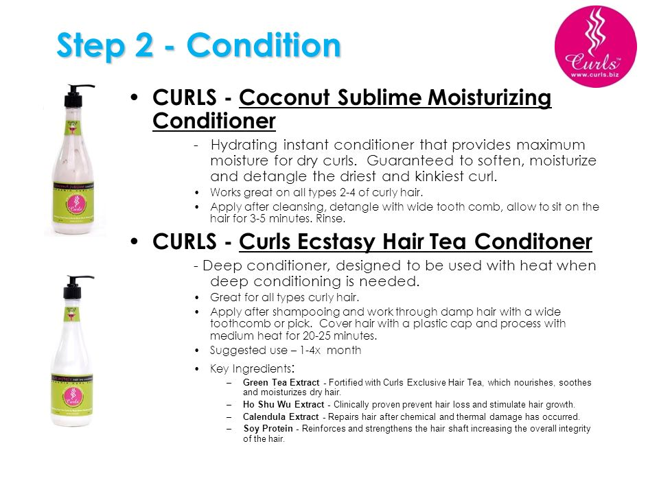 Step 2 - Condition CURLS - Coconut Sublime Moisturizing Conditioner