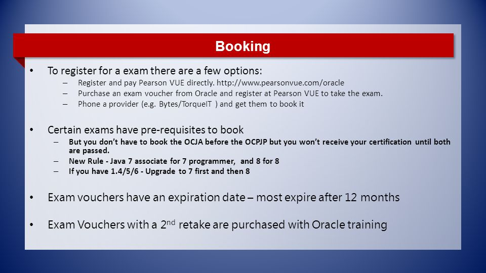 Oracle Java Certifications Ppt Download